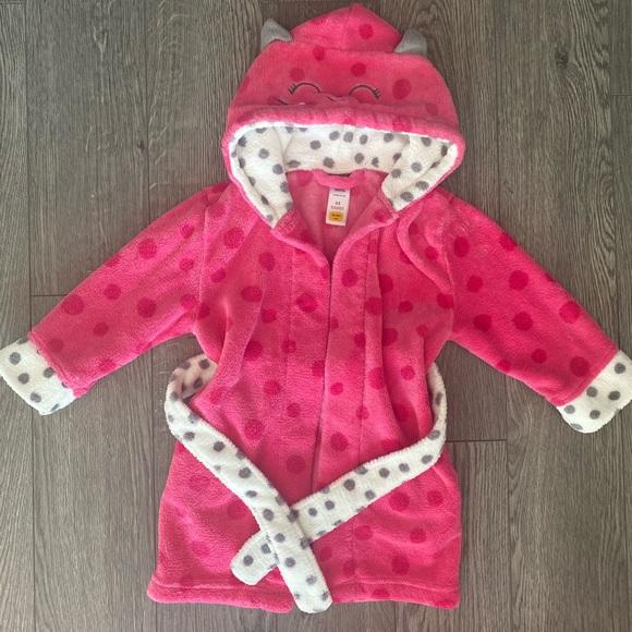 Pekkle toddler girl bath robe 2T
